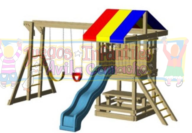Juegos de madera juegos infantiles avila camacho for Columpios infantiles