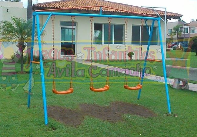 Columpio 3 Plazas Juegos Infantiles Avila Camacho