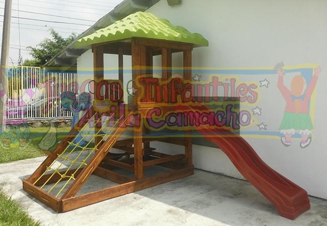 Modulo de madera basico juegos infantiles avila camacho - Modulos de madera ...